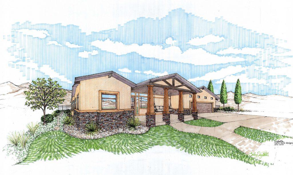 Pueblo Custom Home Design